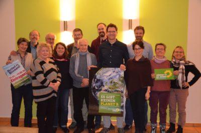 Mitglieder der Grünen Ortsgruppe Regenstauf