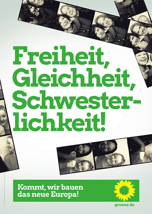 DIE GRÜNEN - Plakat zur Europawahl 2019