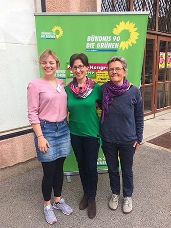 Katha, Heike, Dörte beim Frauenkongress in Amberg 2019
