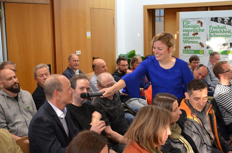 Katharina Schulze mit Publikum