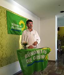 Der Grüne Bürgermeisterkandidat Erich Kufner